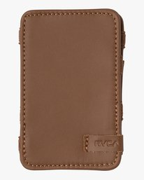 0 Leather Magic Wallet Beige MAWASRML RVCA