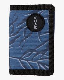 0 RVCA Print Trifold Wallet Blue MAWASRPT RVCA