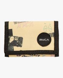 0 RVCA Print Trifold Wallet Yellow MAWASRPT RVCA
