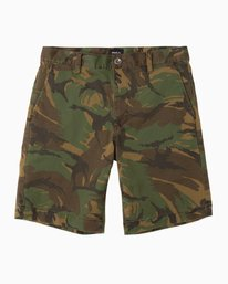 "0 week-end 20"" STRETCH SHORTS Brown MC202WKS RVCA"