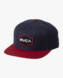 0 COMMONWEALTH SNAPBACK HAT White MDAHWCWS RVCA