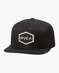 0 Commonwealth Snapback Hat Black MDAHWCWS RVCA