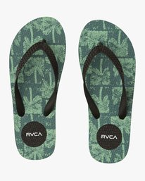 0 Sleeper Rubber Sandal Green MFOTNRSL RVCA