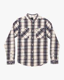 0 That'll Work Flannel Long Sleeve Shirt Silver MG519TWF RVCA