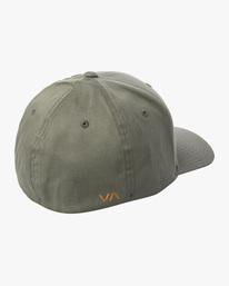1 RVCA FLEX FIT HAT Green MHAHWRFF RVCA