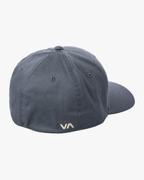 1 RVCA FlexFit Hat Blue MHAHWRFF RVCA