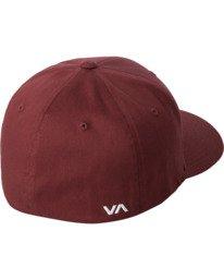 1 RVCA FLEX FIT HAT Red MHAHWRFF RVCA
