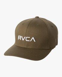 0 RVCA FLEX FIT HAT Green MHAHWRFF RVCA