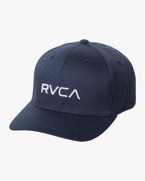 0 RVCA FLEX FIT HAT Blue MHAHWRFF RVCA