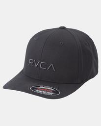 2 RVCA Flex Fit Baseball Hat Black MHAHWRFF RVCA