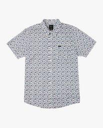 0 Porcelain Printed Short Sleeve Shirt White MK507POR RVCA