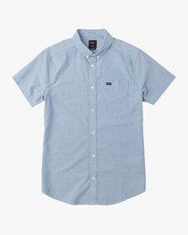 0 That'll Do Stretch Short Sleeve Shirt Blue MK515TDS RVCA