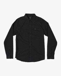 0 That'll Do Stretch Long Sleeve Shirt Black ML501TSL RVCA