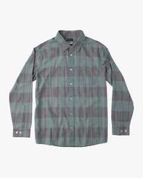 0 Ellis Check Long Sleeve Plaid Shirt Blue ML511ELL RVCA