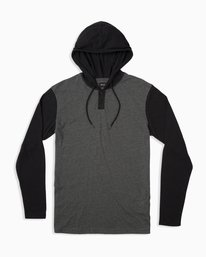 0 Pick Up Hooded Knit Shirt  Grey ML916PIH RVCA