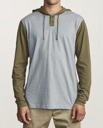 0 Pick Up Hooded Knit Shirt Green ML916PIH RVCA