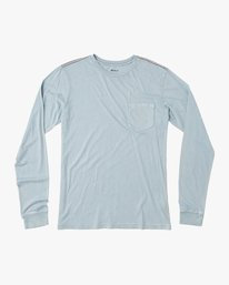 0 PTC Pigment Long Sleeve T-Shirt Blue ML921PPL RVCA