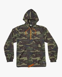 0 Islands Public Works Packable Jacket Orange MM701IPW RVCA