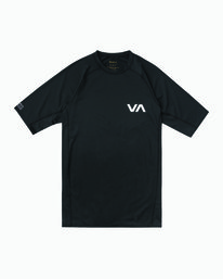 0 Short Sleeve Surf Rashguard Black MR01NRSS RVCA