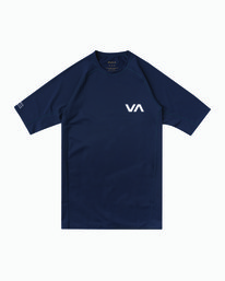 0 Short Sleeve Surf Rashguard Blue MR01NRSS RVCA