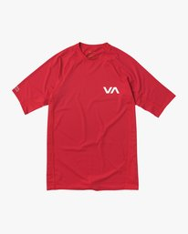 0 Short Sleeve Rashguard Red MR01NRSS RVCA