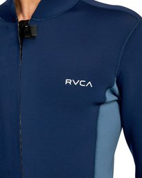 3 Ancell Front Zip Neoprene Wetsuit Jacket Blue MR01URFZ RVCA