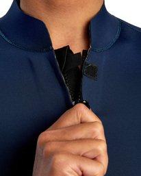 6 Ancell Front Zip Neoprene Wetsuit Jacket Blue MR01URFZ RVCA