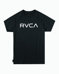 0 Micro Mesh Short Sleeve Surf Top Black MR02NRMM RVCA