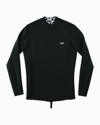 0 Ancell Back Zip Neoprene Wetsuit Jacket Black MR03URBZ RVCA