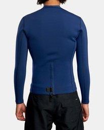 2 Ancell Back Zip Neoprene Wetsuit Jacket Blue MR03URBZ RVCA