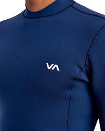 3 Ancell Back Zip Neoprene Wetsuit Jacket Blue MR03URBZ RVCA