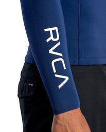 6 Ancell Back Zip Neoprene Wetsuit Jacket Blue MR03URBZ RVCA
