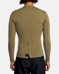 2 Ancell Back Zip Neoprene Wetsuit Jacket Green MR03URBZ RVCA