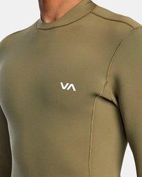 3 Ancell Back Zip Neoprene Wetsuit Jacket Green MR03URBZ RVCA