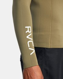 6 Ancell Back Zip Neoprene Wetsuit Jacket Green MR03URBZ RVCA