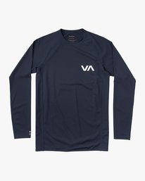 0 Long Sleeve Surf Rashguard Blue MR51NRLS RVCA