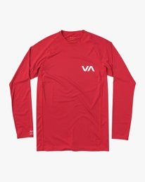 0 Long Sleeve Rashguard Red MR51NRLS RVCA