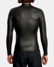 2 Ancell Front Zip Smoothie Wetsuit Jacket Black MR53NRFZ RVCA