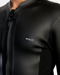 3 Ancell Front Zip Smoothie Wetsuit Jacket Black MR53NRFZ RVCA