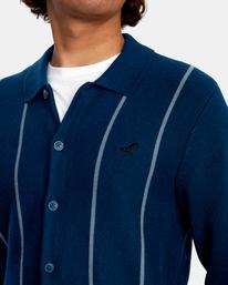 3 Kevin Spanky Long   Okapi Cardigan Sweater Blue MV10WRSS RVCA