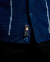 6 Kevin Spanky Long   Okapi Cardigan Sweater Blue MV10WRSS RVCA