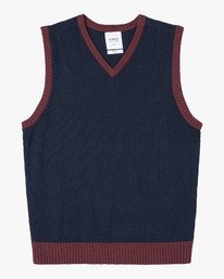 0 HI GRADE SWEATER VEST Blue MV211RHV RVCA