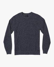 0 Duke Textured Knit Sweater Blue MV30WRDU RVCA