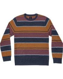 0 ALEX STRIPE CREW sweater Blue MV313RAL RVCA