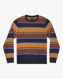 0 ALEX STRIPE CREW sweater Blue MV313RAL RVCA
