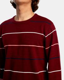 3 ALEX STRIPE CREW sweater Purple MV313RAL RVCA