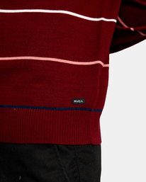 7 ALEX STRIPE CREW sweater Purple MV313RAL RVCA