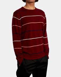 5 ALEX STRIPE CREW sweater Purple MV313RAL RVCA
