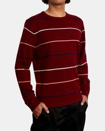 6 ALEX STRIPE CREW sweater Purple MV313RAL RVCA