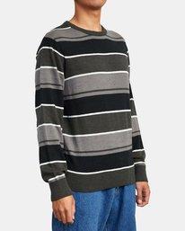 4 ALEX STRIPE CREW sweater Orange MV313RAL RVCA